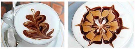 图为如叶子(左)和花瓣(右)的图形。