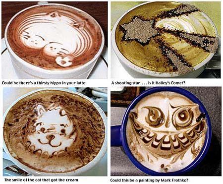 一头饥饿的河马(左上),一颗耀眼的星星(右上),一只猫的笑脸(左下)和一个貌似猫头鹰的怪脸(右下)